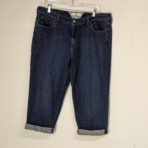 Levi's High Rise Cropped Jeans